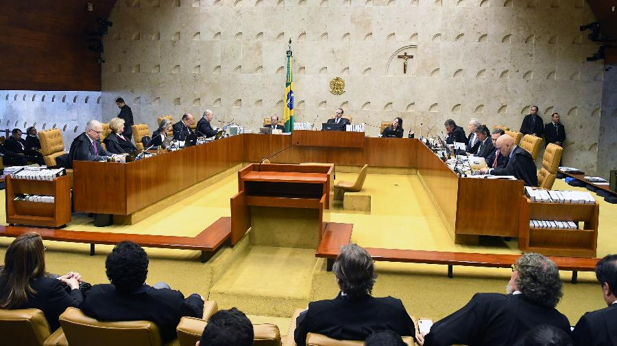 Plenário do STF (Supremo Tribunal Federal) durante julgamento