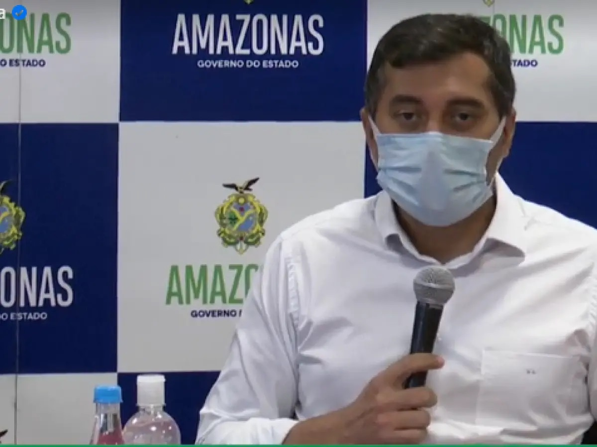 O governador do Amazonas, Wilson Lima